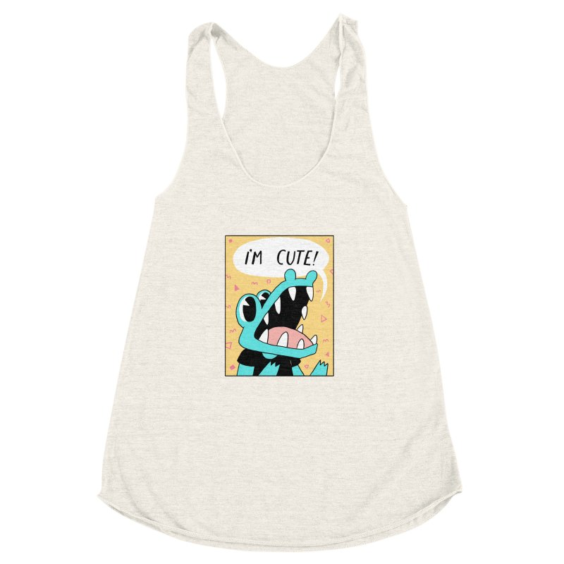 I'M CUTE! Women's Racerback Triblend Tank by GOOD AND NICE SHIRTS