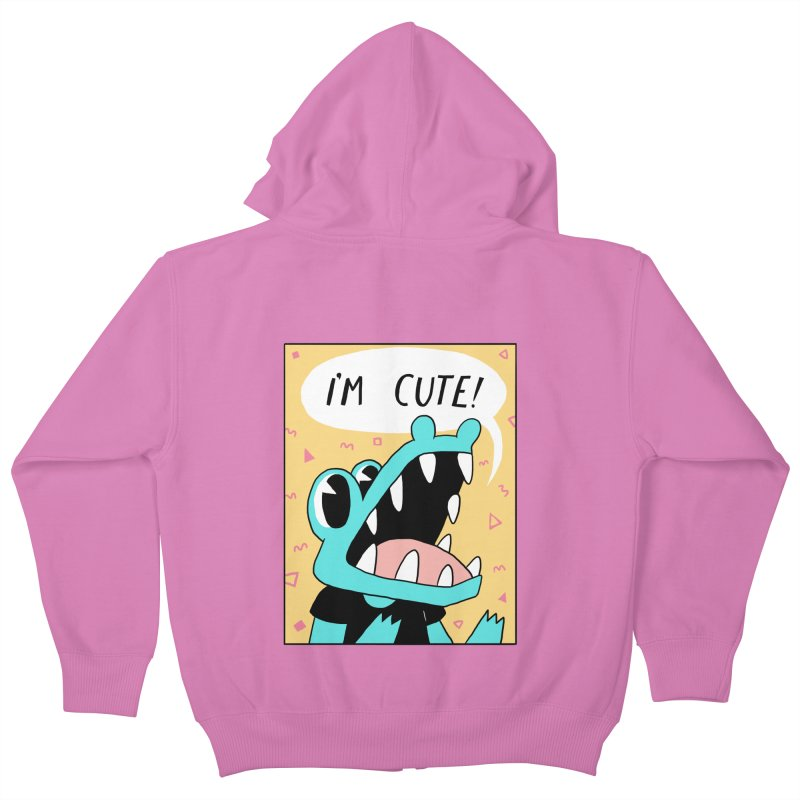 I'M CUTE! Kids Zip-Up Hoody by GOOD AND NICE SHIRTS
