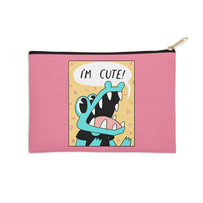 I'M CUTE! Accessories Zip Pouch by GOOD AND NICE SHIRTS