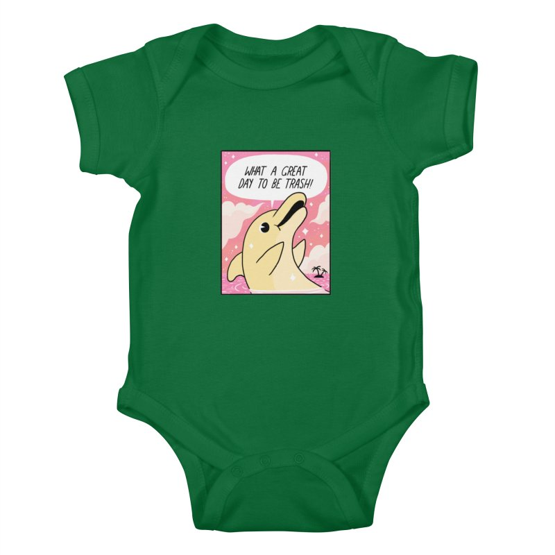 TRASH DOLPHIN  Kids Baby Bodysuit by GOOD AND NICE SHIRTS