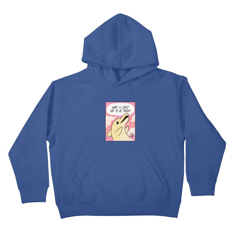 TRASH DOLPHIN  Kids Pullover Hoody by GOOD AND NICE SHIRTS