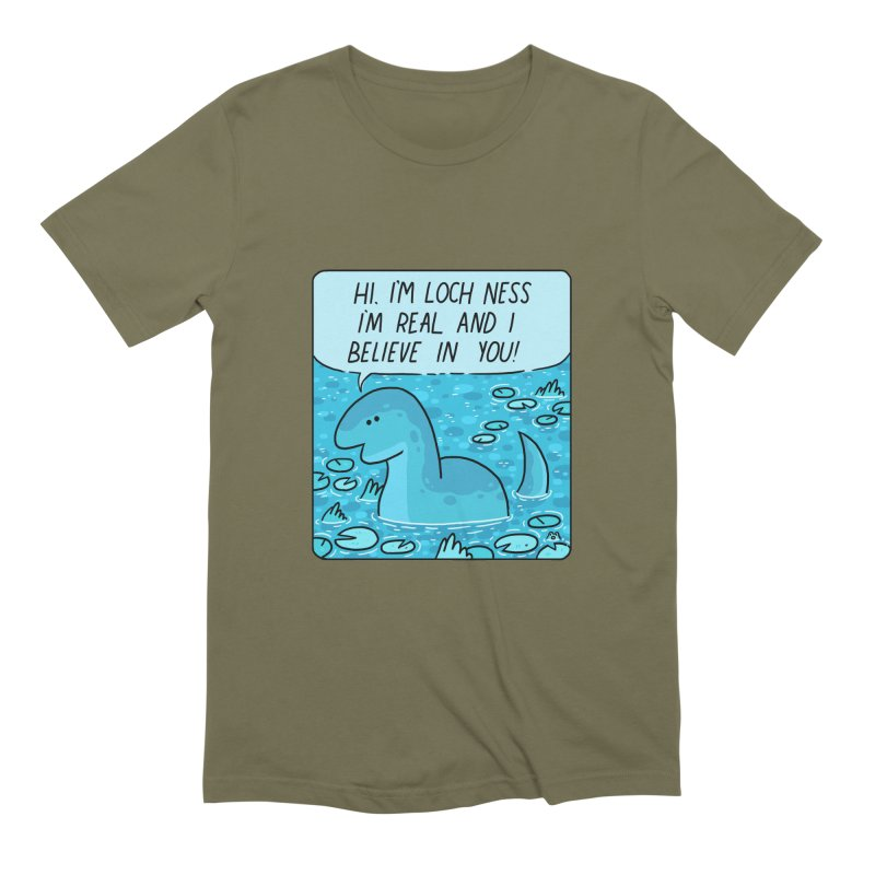 LOCH NESS BELIEVES IN YOU Men's Extra Soft T-Shirt by GOOD AND NICE SHIRTS