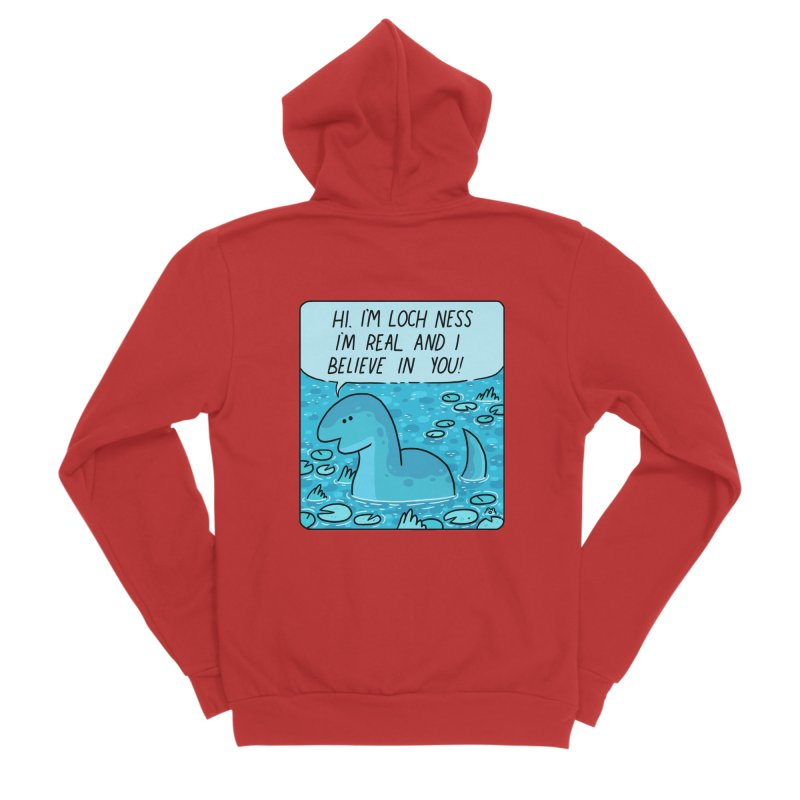 LOCH NESS BELIEVES IN YOU Men's Sponge Fleece Zip-Up Hoody by GOOD AND NICE SHIRTS