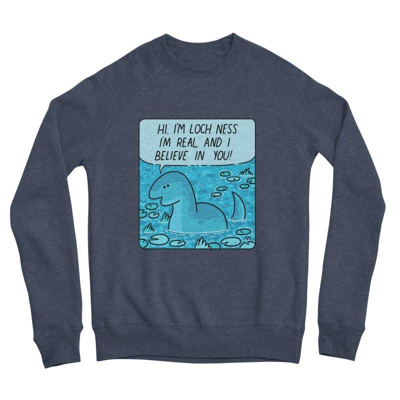 LOCH NESS BELIEVES IN YOU Women's Sponge Fleece Sweatshirt by GOOD AND NICE SHIRTS