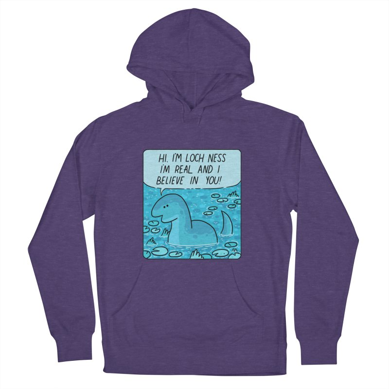 LOCH NESS BELIEVES IN YOU Women's French Terry Pullover Hoody by GOOD AND NICE SHIRTS