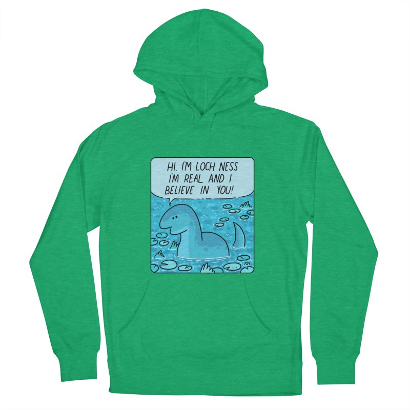 LOCH NESS BELIEVES IN YOU Men's French Terry Pullover Hoody by GOOD AND NICE SHIRTS