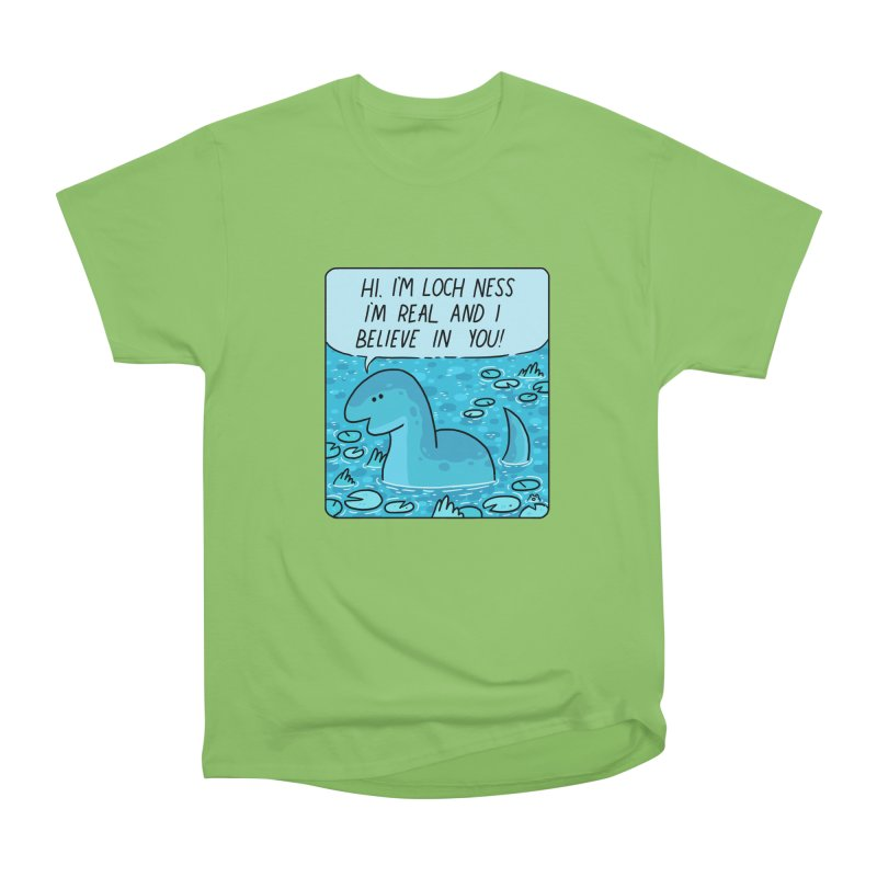 LOCH NESS BELIEVES IN YOU Women's Heavyweight Unisex T-Shirt by GOOD AND NICE SHIRTS