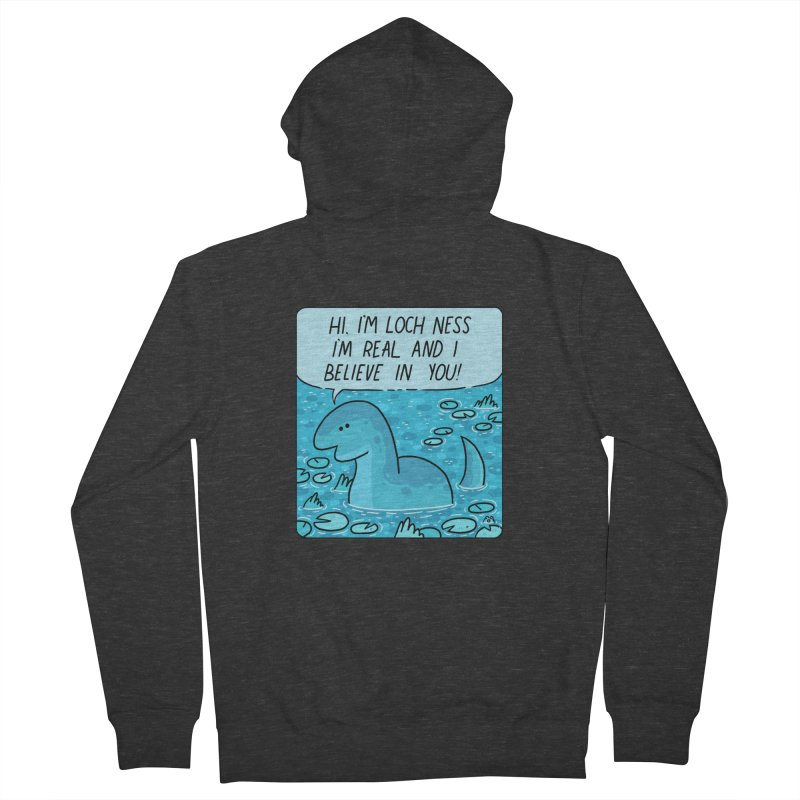 LOCH NESS BELIEVES IN YOU Women's French Terry Zip-Up Hoody by GOOD AND NICE SHIRTS