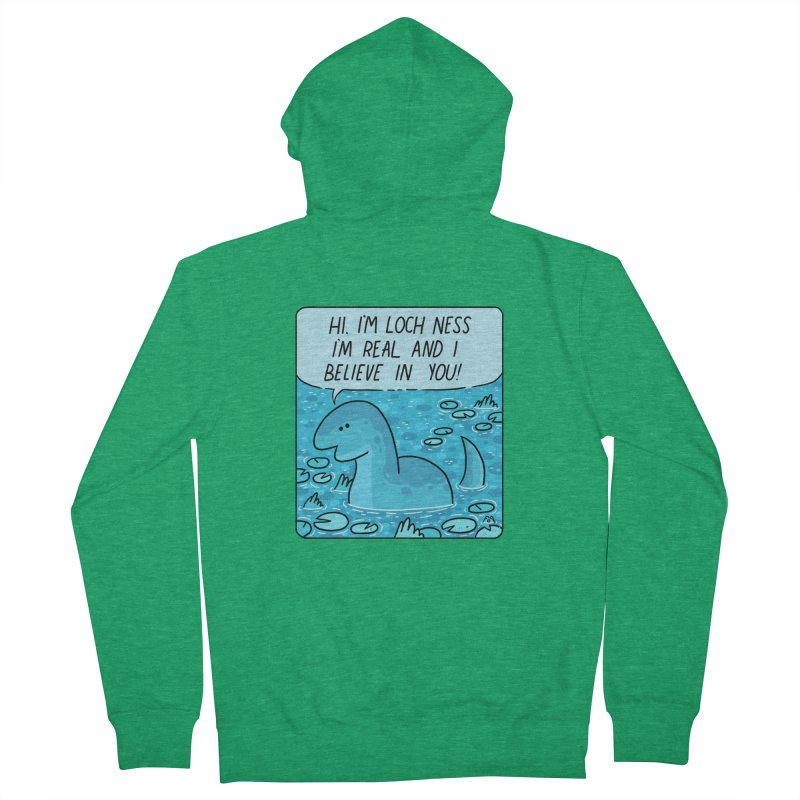 LOCH NESS BELIEVES IN YOU Men's French Terry Zip-Up Hoody by GOOD AND NICE SHIRTS