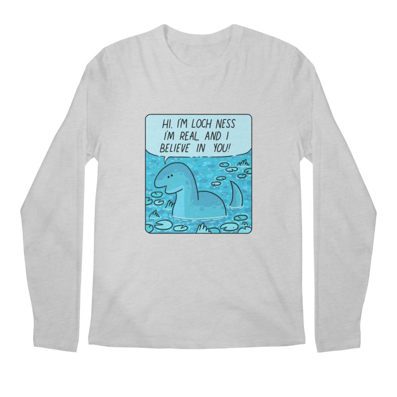 LOCH NESS BELIEVES IN YOU Men's Regular Longsleeve T-Shirt by GOOD AND NICE SHIRTS