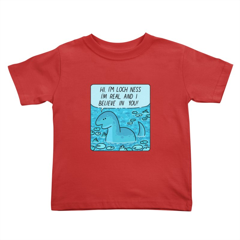 LOCH NESS BELIEVES IN YOU Kids Toddler T-Shirt by GOOD AND NICE SHIRTS
