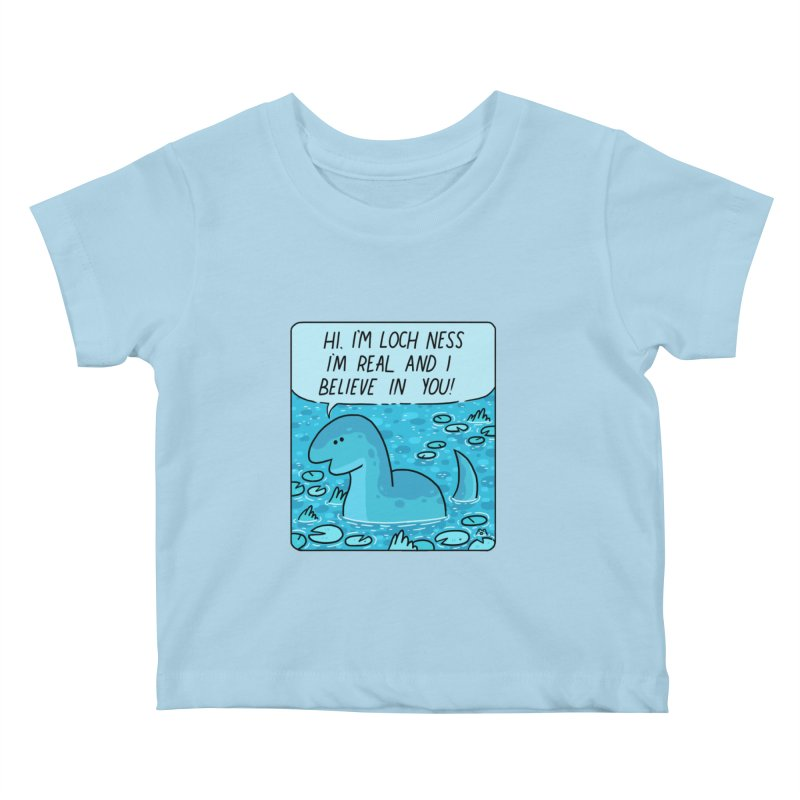 LOCH NESS BELIEVES IN YOU Kids Baby T-Shirt by GOOD AND NICE SHIRTS