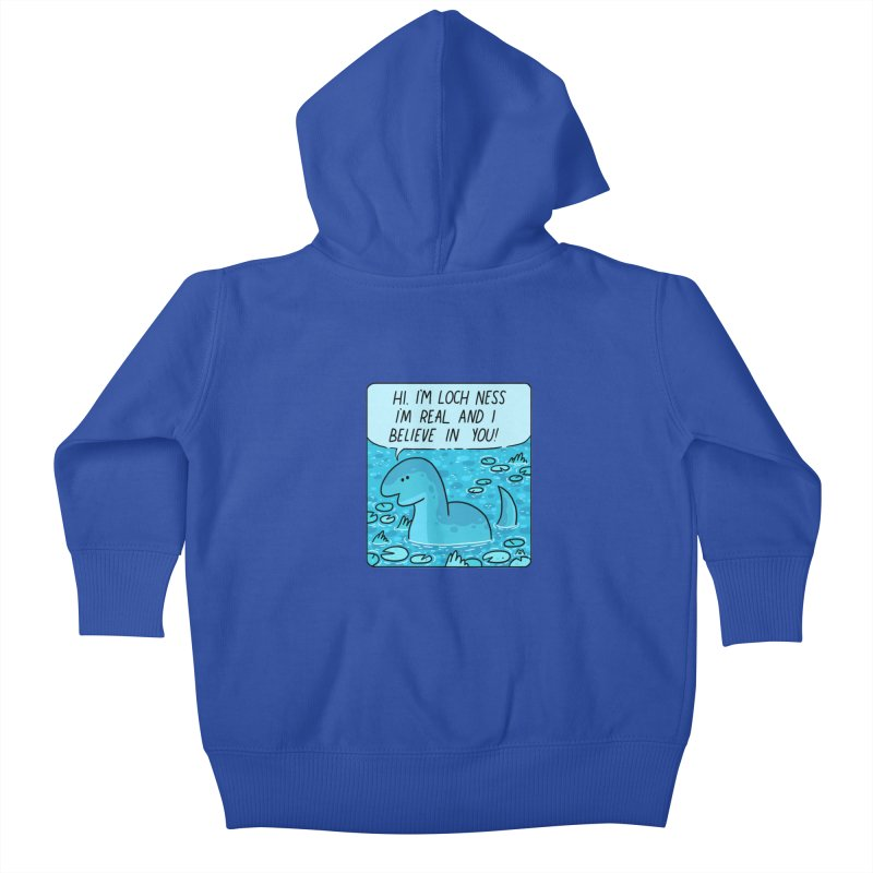LOCH NESS BELIEVES IN YOU Kids Baby Zip-Up Hoody by GOOD AND NICE SHIRTS