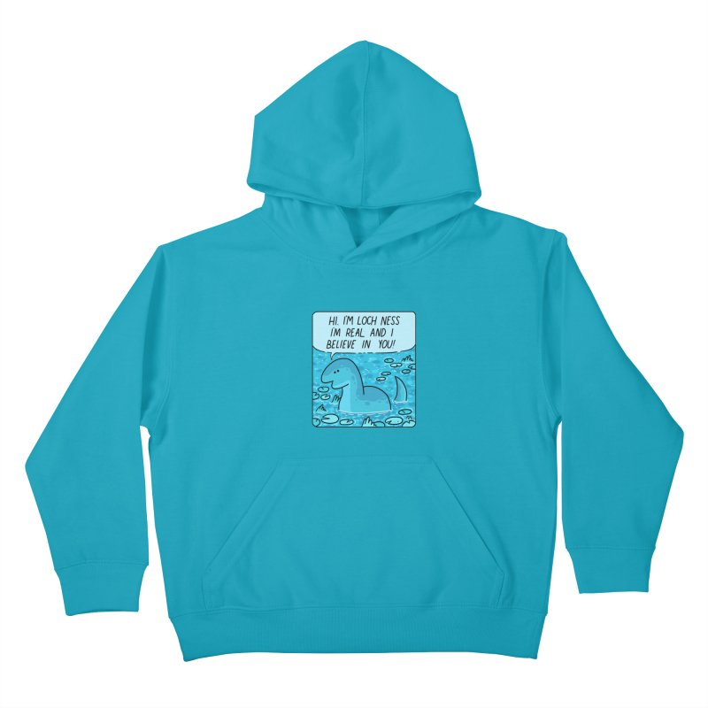 LOCH NESS BELIEVES IN YOU Kids Pullover Hoody by GOOD AND NICE SHIRTS