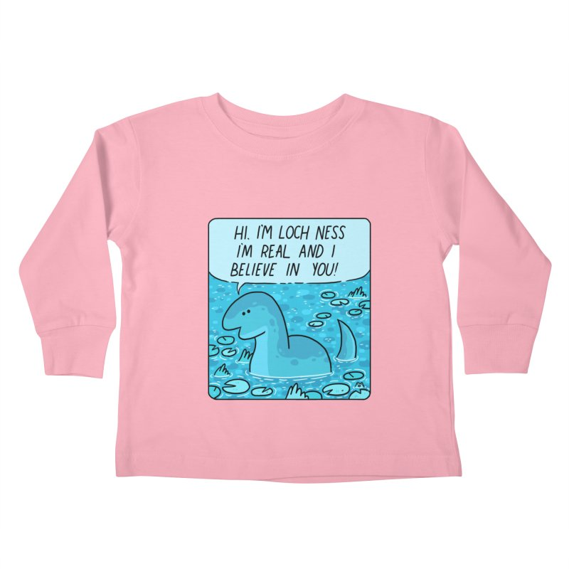 LOCH NESS BELIEVES IN YOU Kids Toddler Longsleeve T-Shirt by GOOD AND NICE SHIRTS