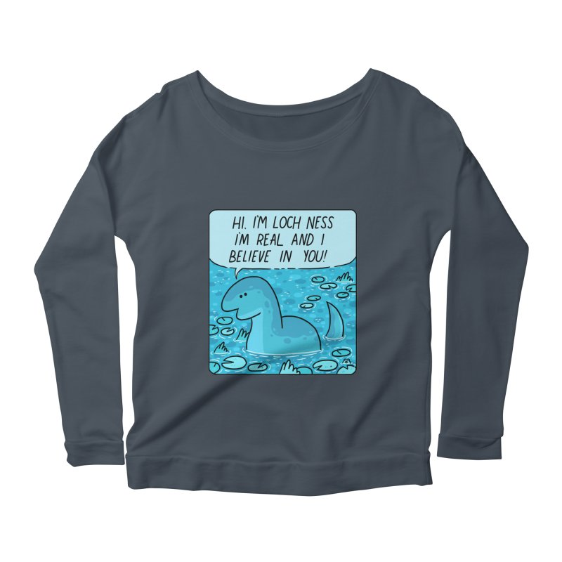 LOCH NESS BELIEVES IN YOU Women's Scoop Neck Longsleeve T-Shirt by GOOD AND NICE SHIRTS
