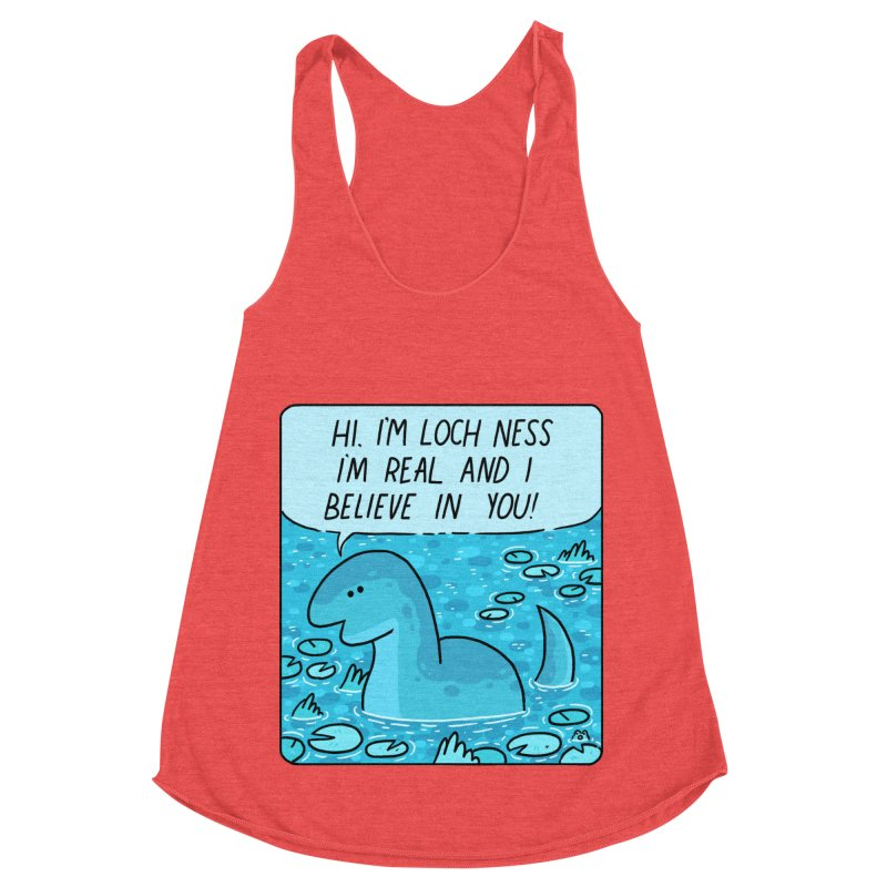 LOCH NESS BELIEVES IN YOU Women's Racerback Triblend Tank by GOOD AND NICE SHIRTS