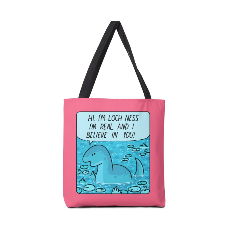 LOCH NESS BELIEVES IN YOU Accessories Tote Bag Bag by GOOD AND NICE SHIRTS
