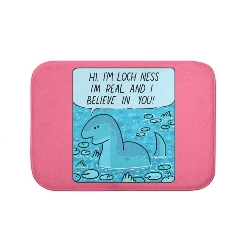 LOCH NESS BELIEVES IN YOU Home Bath Mat by GOOD AND NICE SHIRTS