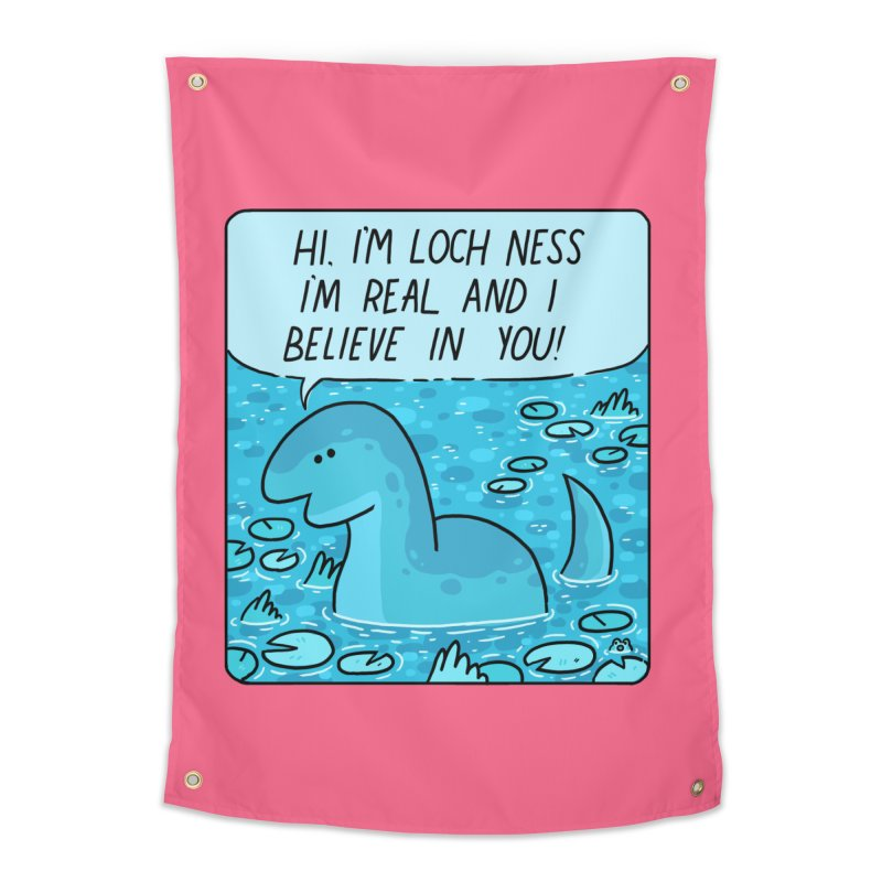 LOCH NESS BELIEVES IN YOU Home Tapestry by GOOD AND NICE SHIRTS