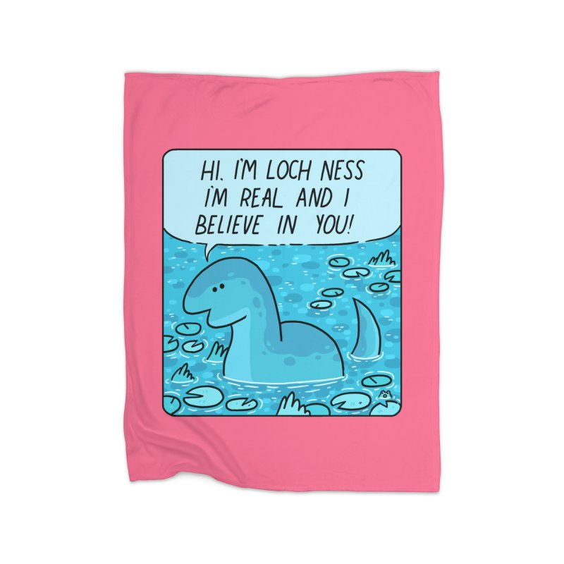 LOCH NESS BELIEVES IN YOU Home Fleece Blanket Blanket by GOOD AND NICE SHIRTS