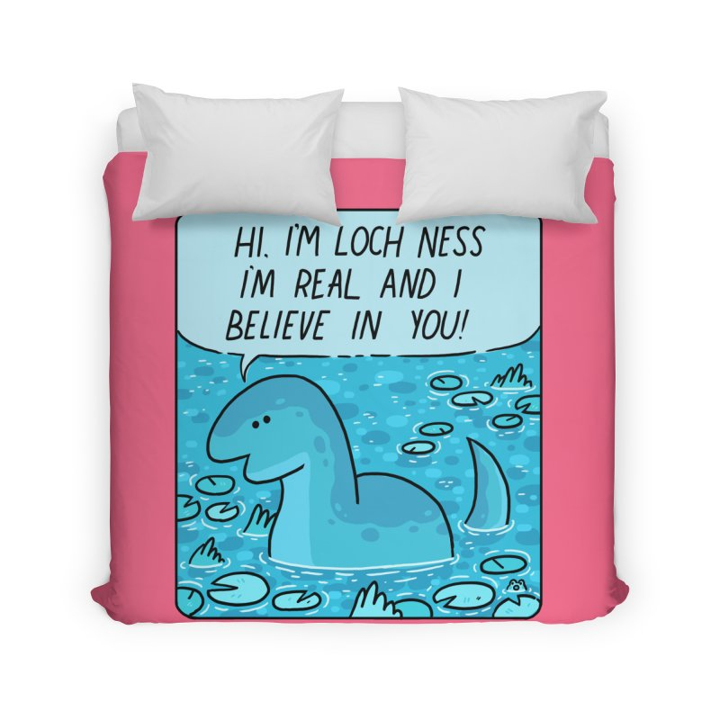 LOCH NESS BELIEVES IN YOU Home Duvet by GOOD AND NICE SHIRTS