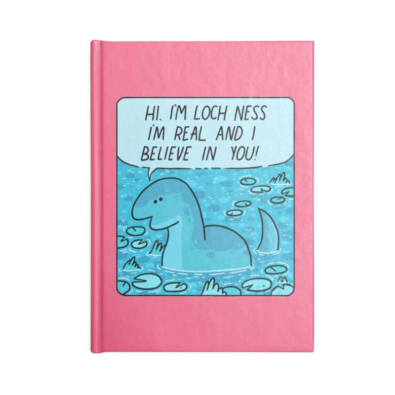 LOCH NESS BELIEVES IN YOU Accessories Blank Journal Notebook by GOOD AND NICE SHIRTS