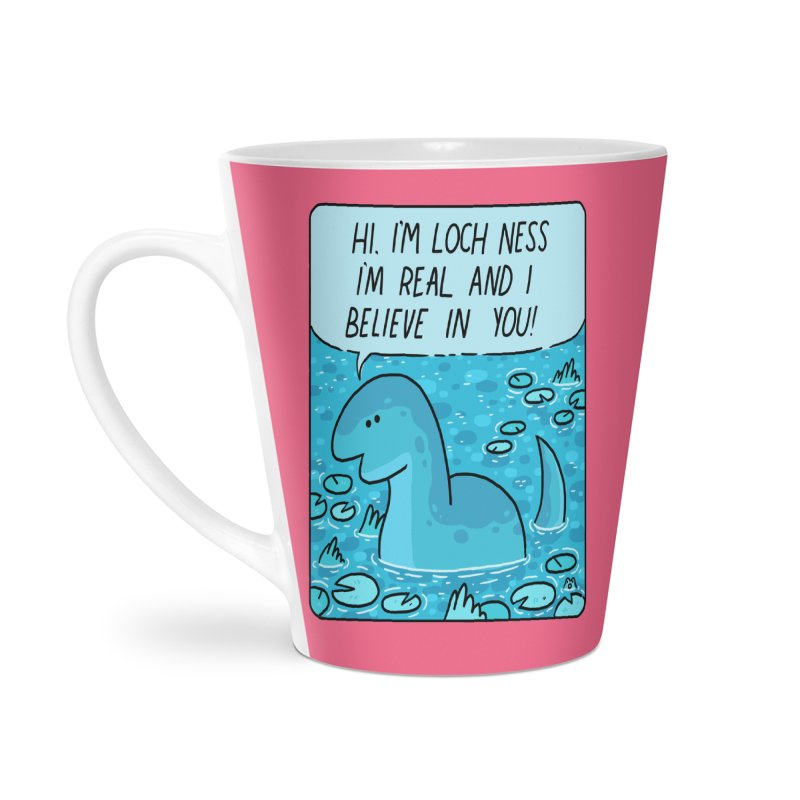 LOCH NESS BELIEVES IN YOU Accessories Latte Mug by GOOD AND NICE SHIRTS