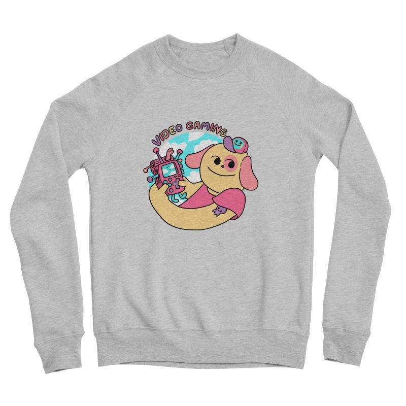 VIDEO GAMING Women's Sponge Fleece Sweatshirt by GOOD AND NICE SHIRTS