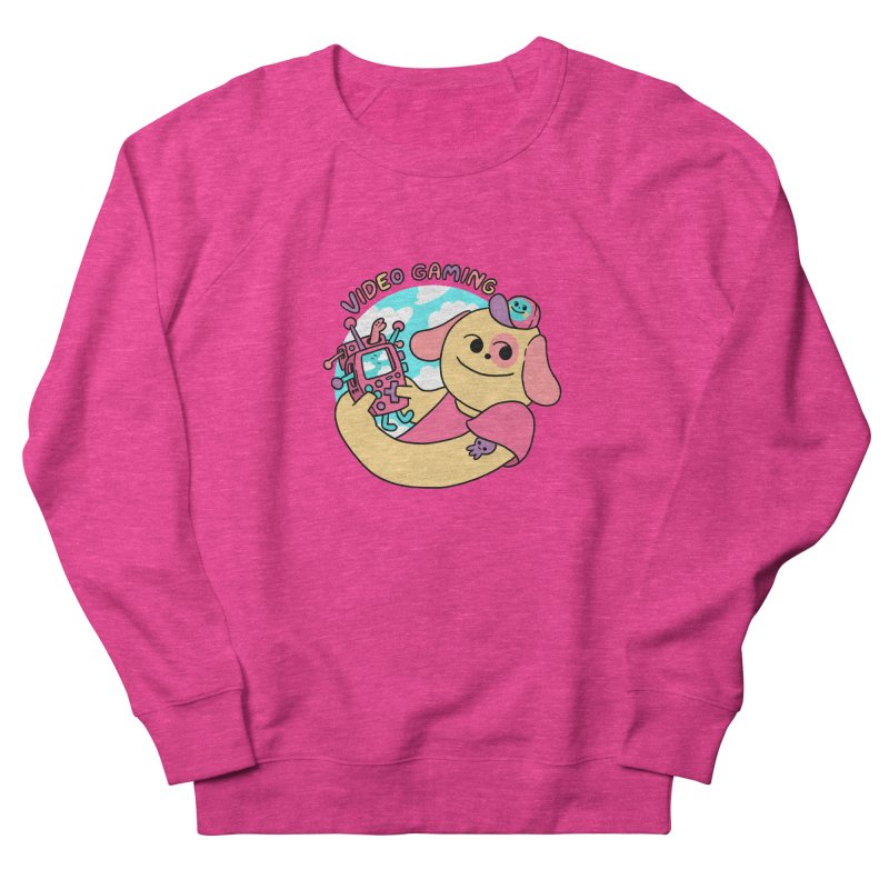 VIDEO GAMING Women's French Terry Sweatshirt by GOOD AND NICE SHIRTS