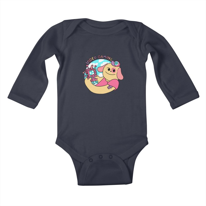 VIDEO GAMING Kids Baby Longsleeve Bodysuit by GOOD AND NICE SHIRTS