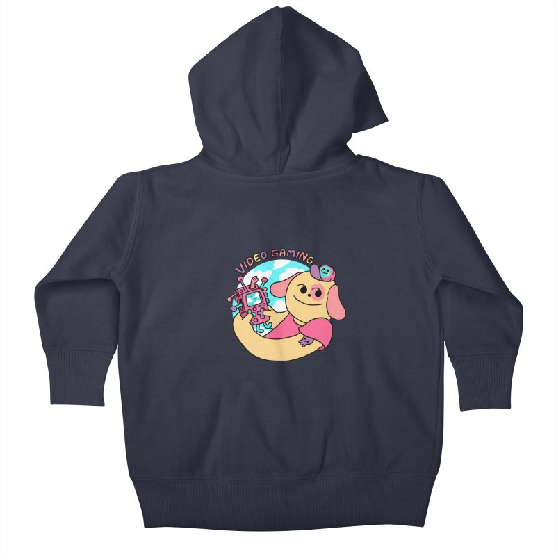 VIDEO GAMING Kids Baby Zip-Up Hoody by GOOD AND NICE SHIRTS
