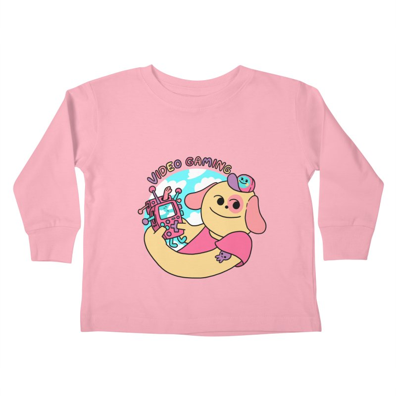 VIDEO GAMING Kids Toddler Longsleeve T-Shirt by GOOD AND NICE SHIRTS