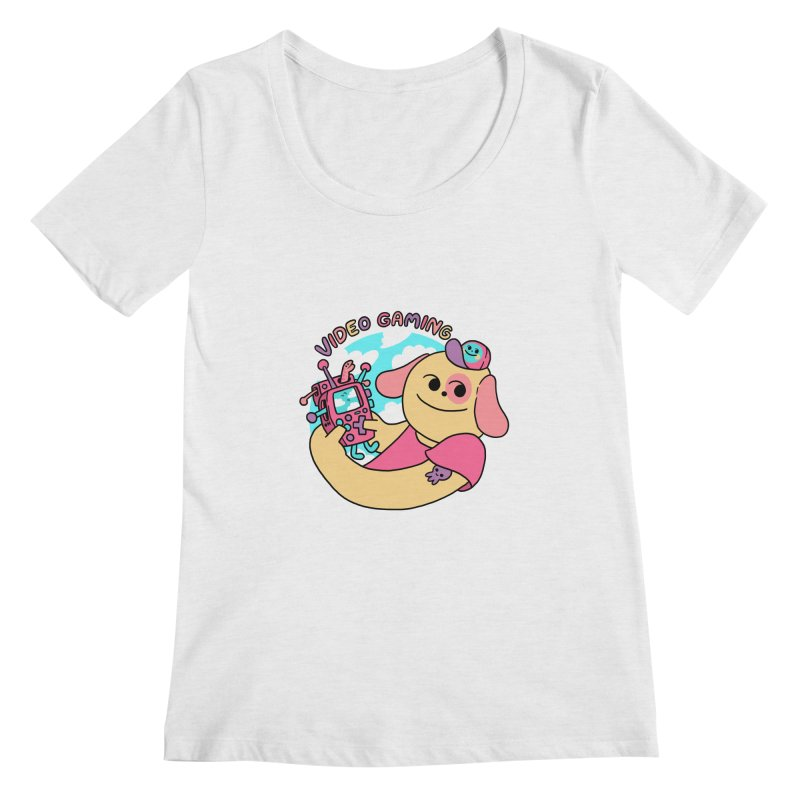 VIDEO GAMING Women's Regular Scoop Neck by GOOD AND NICE SHIRTS