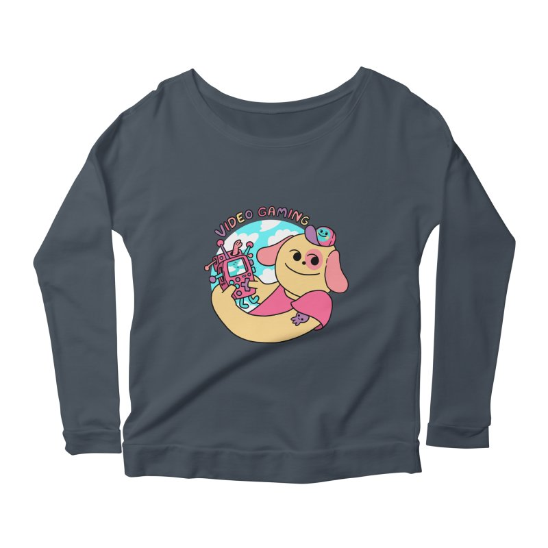 VIDEO GAMING Women's Scoop Neck Longsleeve T-Shirt by GOOD AND NICE SHIRTS