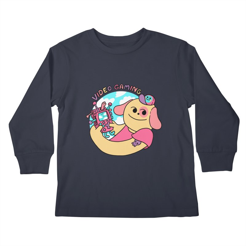 VIDEO GAMING Kids Longsleeve T-Shirt by GOOD AND NICE SHIRTS