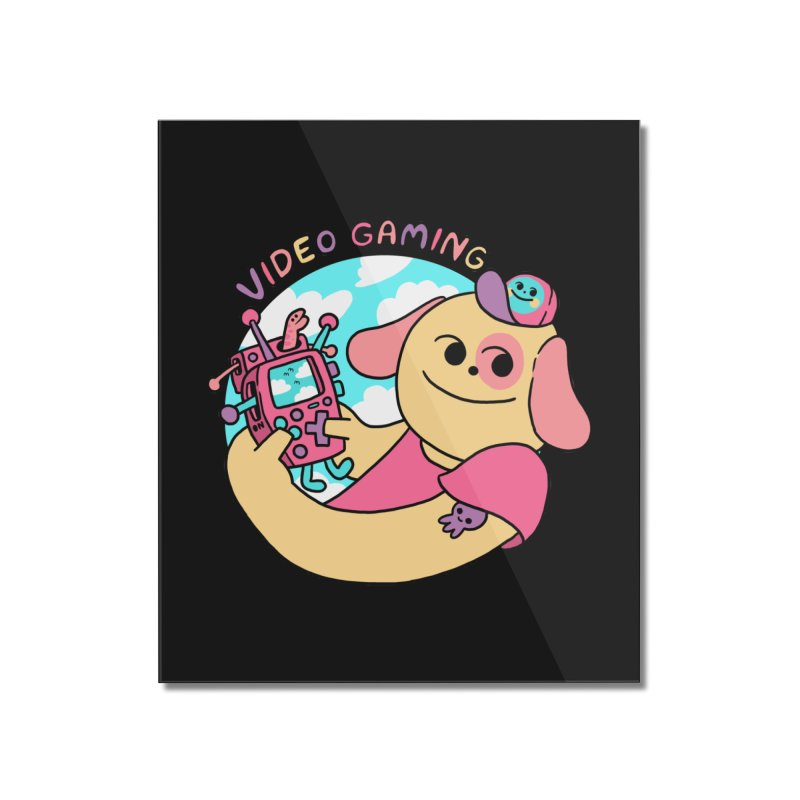 VIDEO GAMING Home Mounted Acrylic Print by GOOD AND NICE SHIRTS