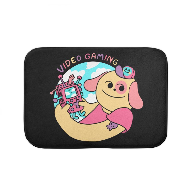 VIDEO GAMING Home Bath Mat by GOOD AND NICE SHIRTS