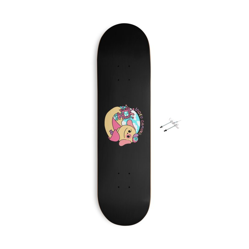 VIDEO GAMING Accessories With Hanging Hardware Skateboard by GOOD AND NICE SHIRTS