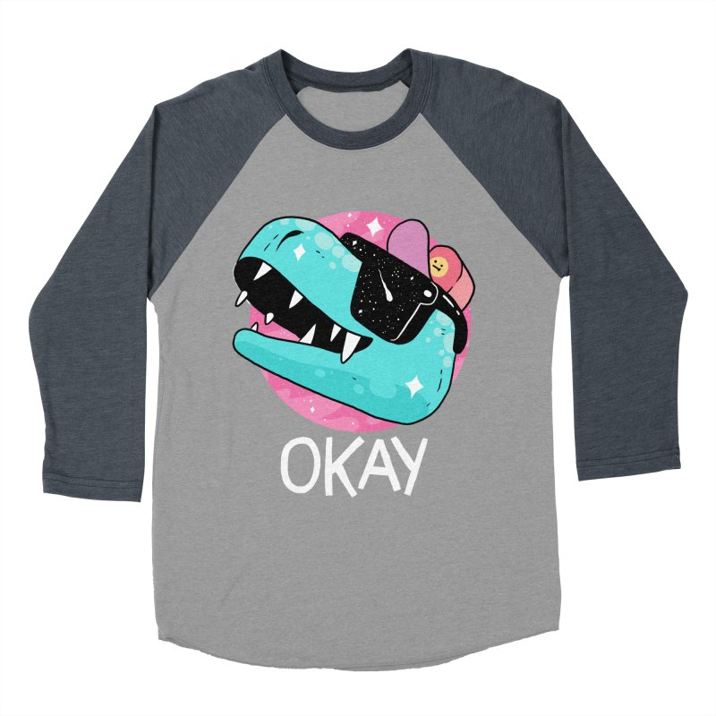 OKAY! Women's Baseball Triblend T-Shirt by GOOD AND NICE SHIRTS
