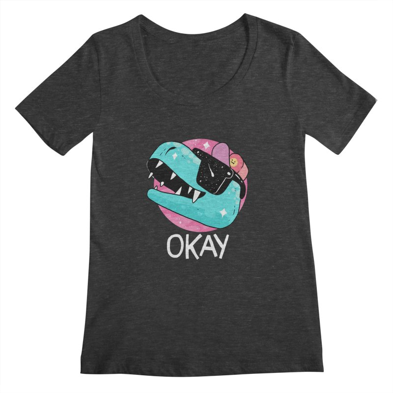 OKAY! Women's Scoopneck by GOOD AND NICE SHIRTS
