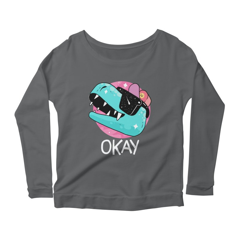 OKAY! Women's Longsleeve Scoopneck  by GOOD AND NICE SHIRTS