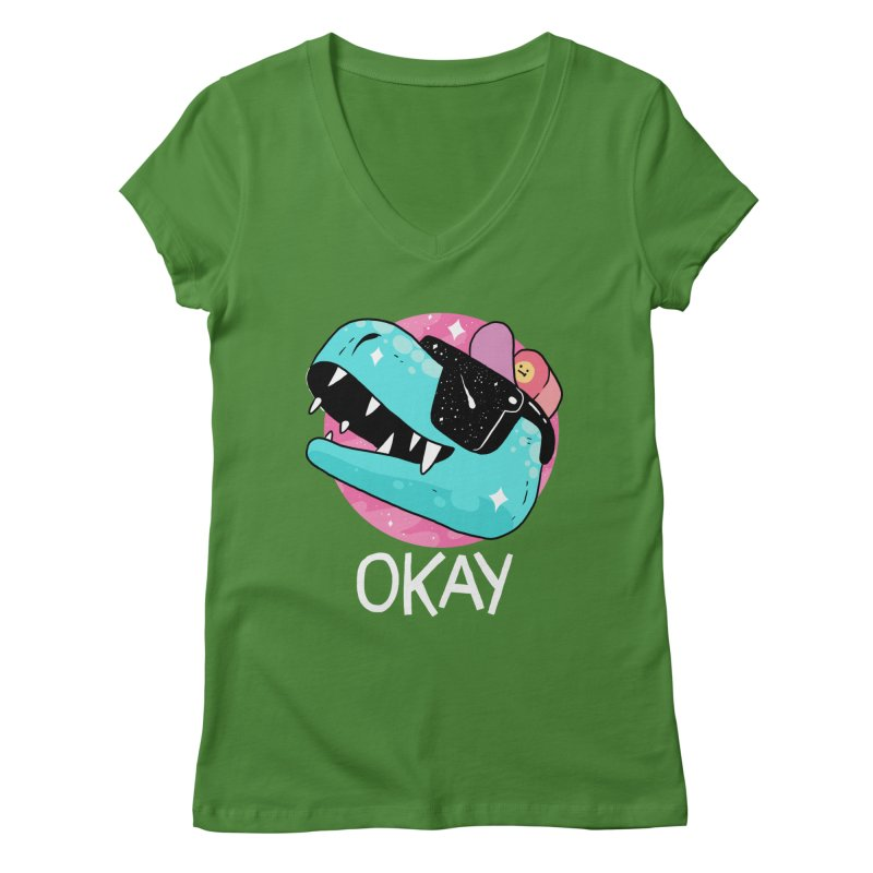 OKAY! Women's V-Neck by GOOD AND NICE SHIRTS