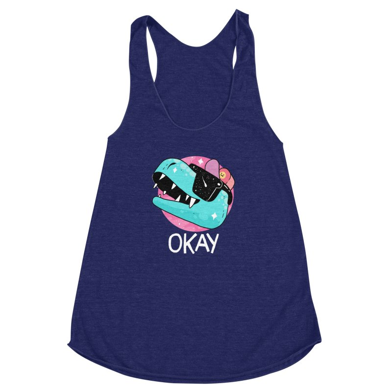 OKAY! Women's Racerback Triblend Tank by GOOD AND NICE SHIRTS