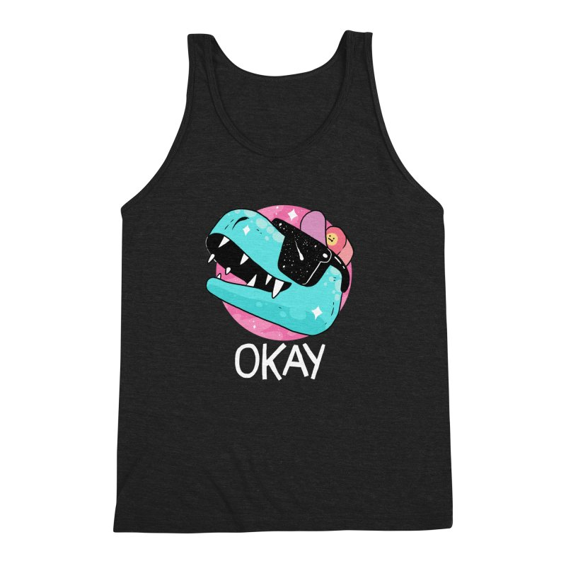 OKAY! Men's Triblend Tank by GOOD AND NICE SHIRTS