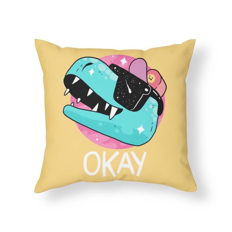 OKAY! Home Throw Pillow by GOOD AND NICE SHIRTS