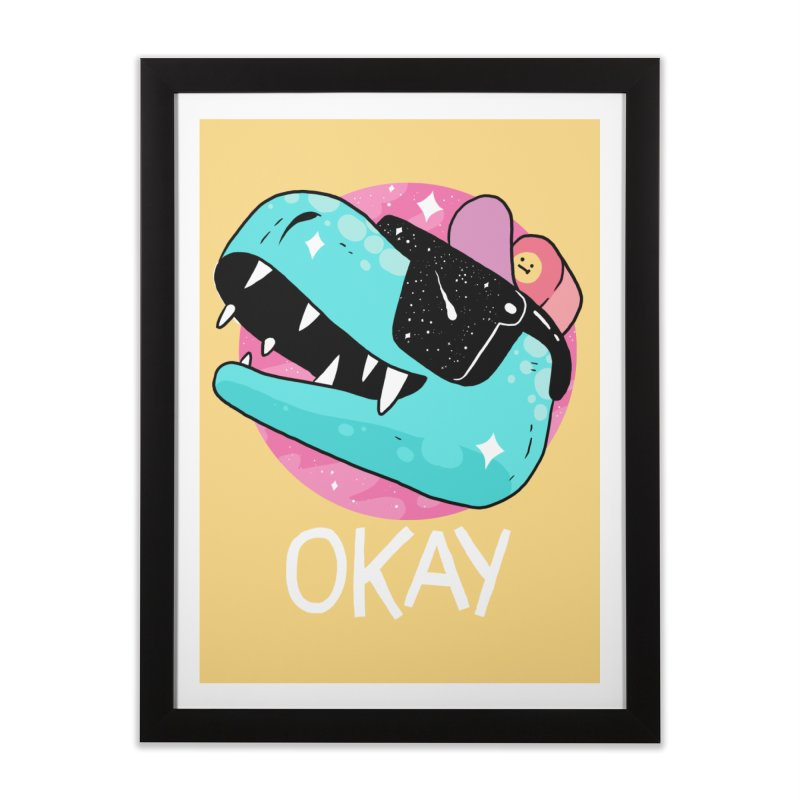 OKAY! Home Framed Fine Art Print by GOOD AND NICE SHIRTS
