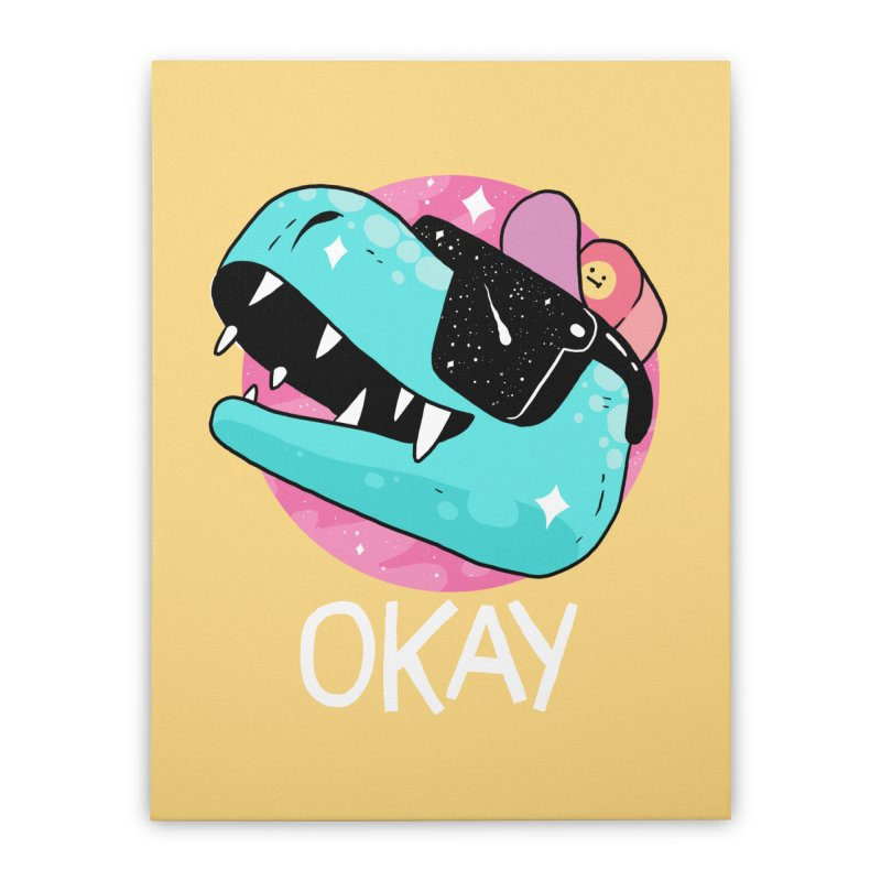 OKAY! Home Stretched Canvas by GOOD AND NICE SHIRTS