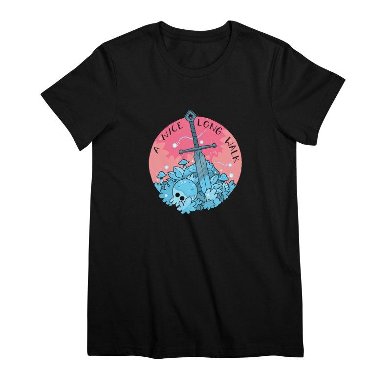 A NICE LONG WALK Women's Premium T-Shirt by GOOD AND NICE SHIRTS