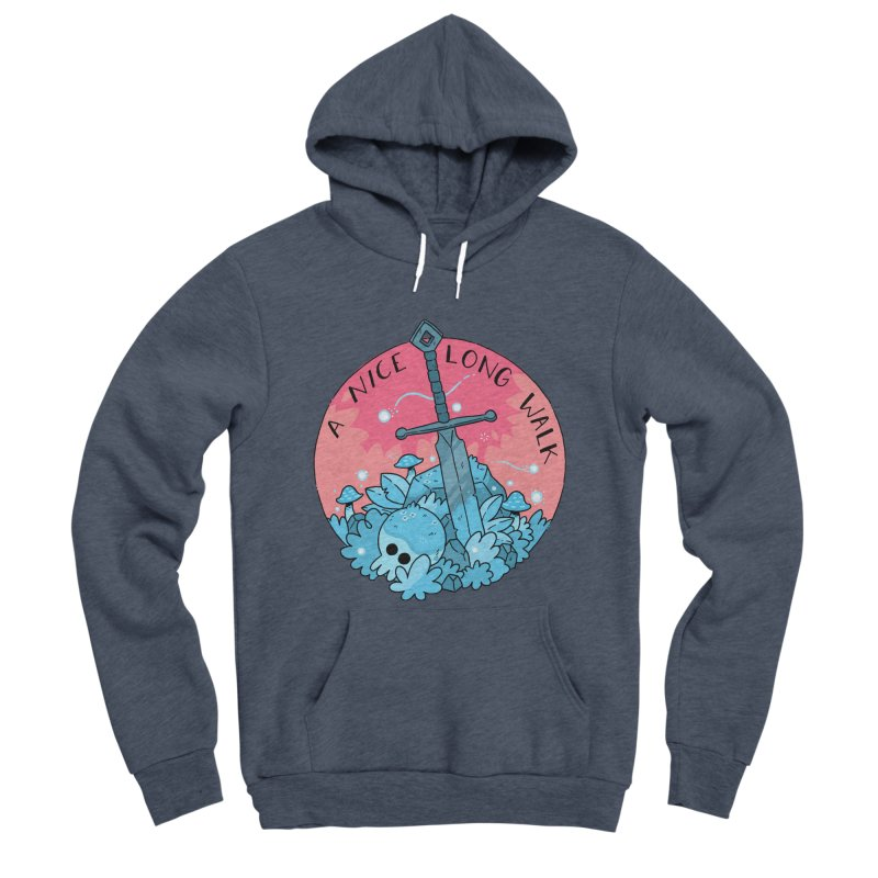 A NICE LONG WALK Women's Sponge Fleece Pullover Hoody by GOOD AND NICE SHIRTS